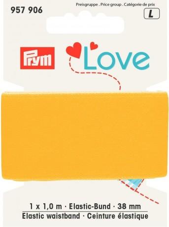 Prym Love 1m Elastic-Bund 38mm breit gelb