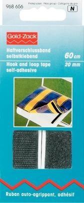 Prym Haftverschlussband selbstklebend 20mm breit schwarz