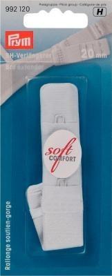Prym BH-Verlängerer 'soft comfort' 20mm breit weiss 3 x 1 Haken