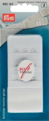 Prym BH-Verlängerer 'soft comfort' 40mm breit weiss 3 x 3 Haken
