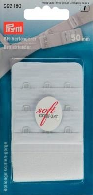 Prym BH-Verlängerer 'soft comfort' 50mm breit weiss 3 x 3 Haken
