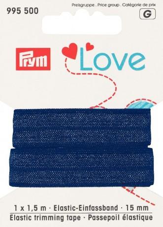 Prym Love 1,5m Elastic-Einfassband 15mm breit blau