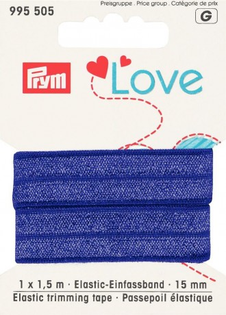 Prym Love 1,5m Elastic-Einfassband 15mm breit lila