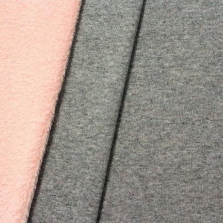 Alpenfleece Sweatshirt Grau meliert Rosa