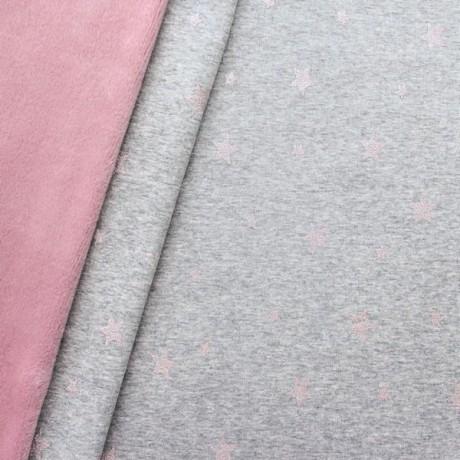 Alpenfleece Sweatshirt Glitzer Sterne Mix Rosé