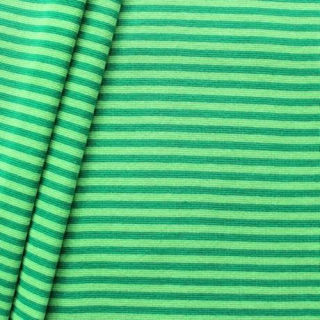 Baumwoll Bündchenstoff Ringel glatt Grün