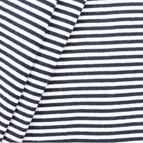 Baumwoll Bündchenstoff Ringel glatt Blau Weiss