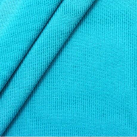 Baumwoll Bündchenstoff Capri-Blau