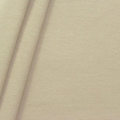 Baumwoll Bündchenstoff Beige