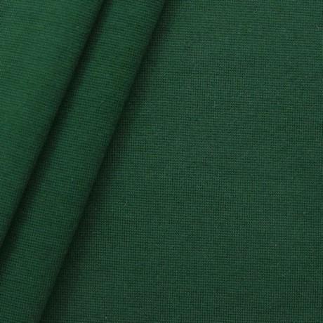 Baumwoll Bündchenstoff glatt Dunkel-Grün