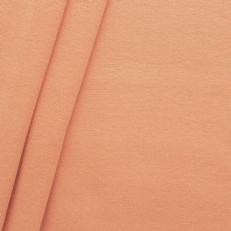 Baumwoll Bündchenstoff glatt Apricot