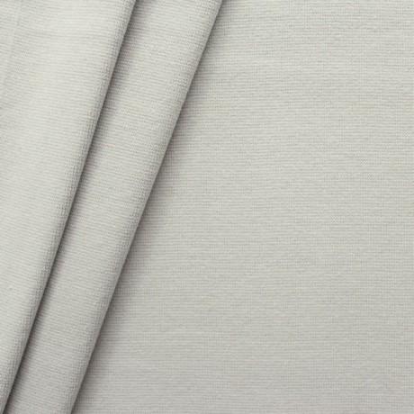 Baumwoll Bündchenstoff glatt Hell-Grau