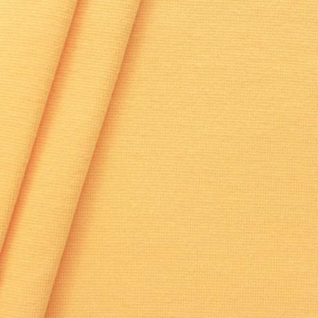 Baumwoll Bündchenstoff glatt Gelb