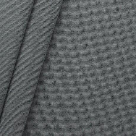 Baumwoll Bündchenstoff glatt Grau