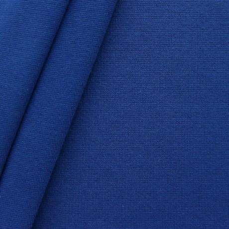 Baumwoll Bündchenstoff glatt Royal-Blau