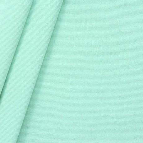 Baumwoll Bündchenstoff glatt Mint-Grün