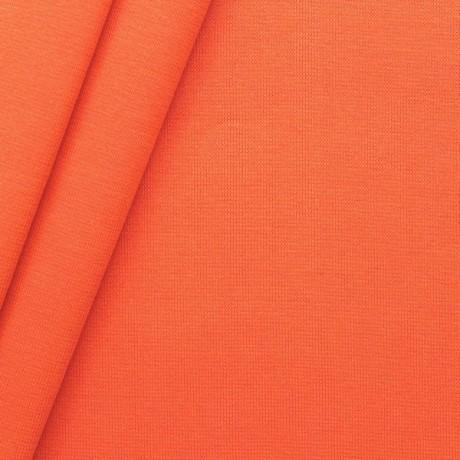 Baumwoll Bündchenstoff glatt Orange