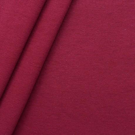 Baumwoll Bündchenstoff glatt Weinrot