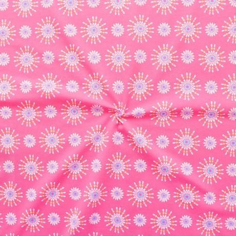 Baumwoll Stretch Jersey Blüten Mandala Rosa