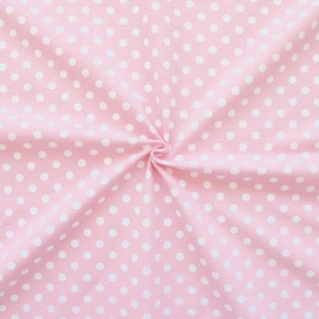 Baumwoll Stretch Jersey Classic Dots Rosa