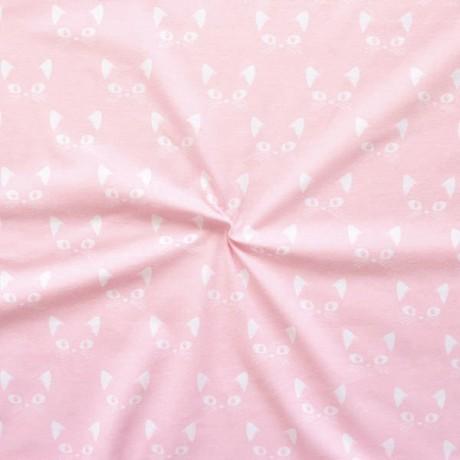 Baumwoll Stretch Jersey Katzengesicht Rosa