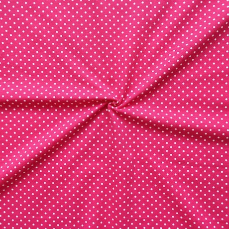Baumwoll Stretch Jersey Punkte Pink Weiss