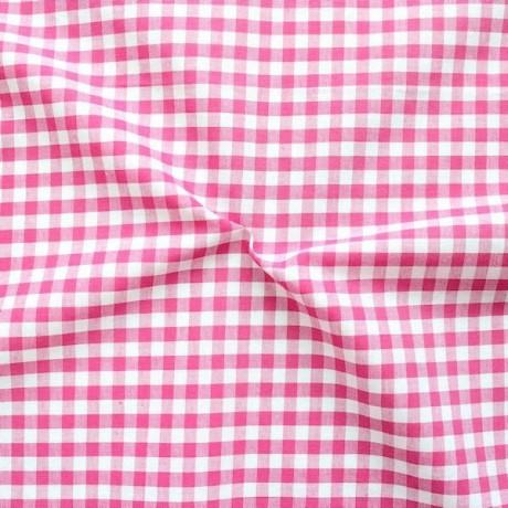 Baumwollstoff Vichy Karo Pink-Weiss