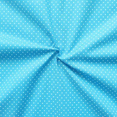 Baumwollstoff Tupfen Klein Azur-Blau
