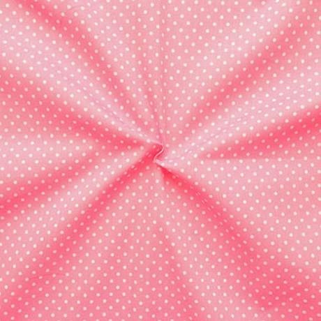 Baumwollstoff Tupfen Klein Rosa