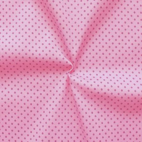 Baumwollstoff Tupfen klein Rosa-Violett