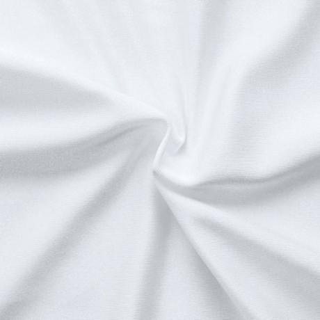 Bi-Stretch Jersey Badeanzug Stoff Weiss