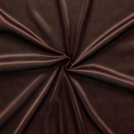 Charmeuse Bekleidungs- Futterstoff Farbe Braun