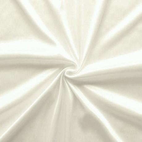 Charmeuse Bekleidungs- Futterstoff Creme-Weiss
