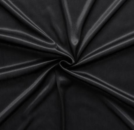 Charmeuse Bekleidungs- Futterstoff Schwarz