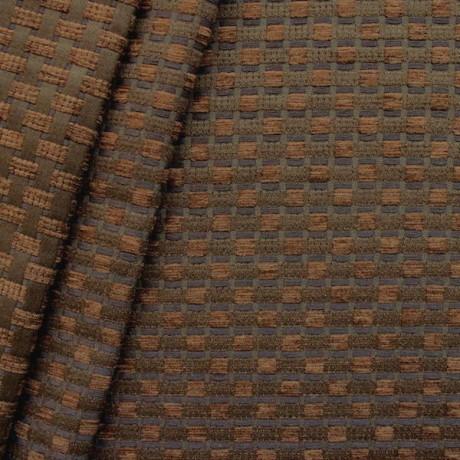 Chenille Polster- Möbelstoff Flechtoptik Farbe Braun