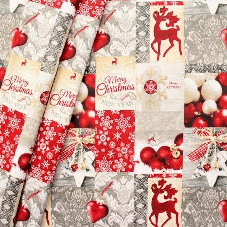 Dekostoff Christmas Patchwork Multicolor