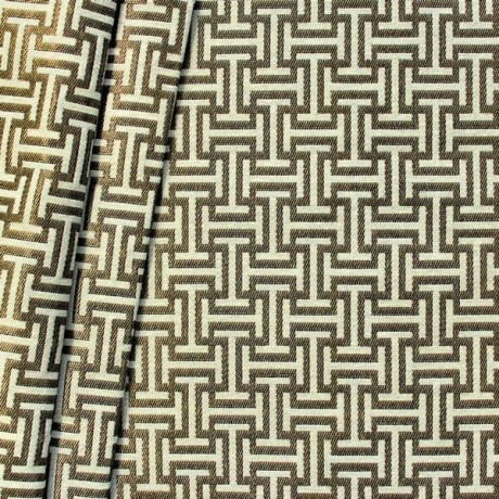 Jacquard Dekostoff Labyrinth Gold-Beige