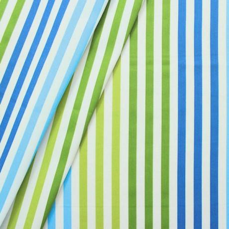 Dekostoff Streifen Blau Grün