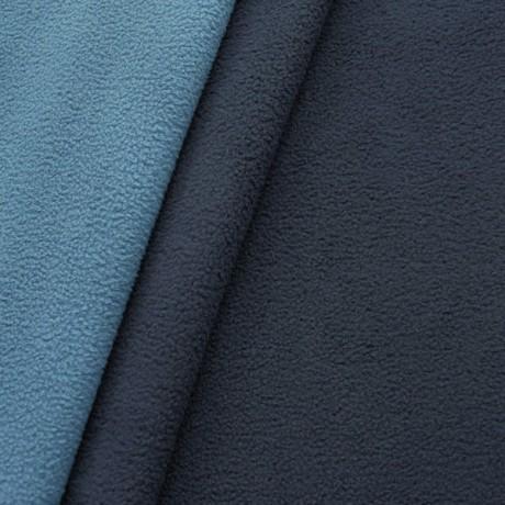 Doubleface Fleece Dunkel-Blau Brilliant-Blau