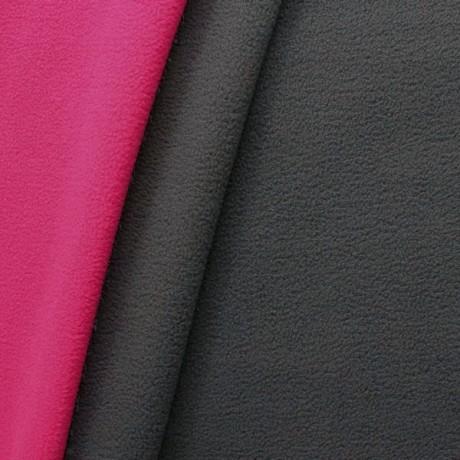 Doubleface Fleece Dunkel Grau Pink
