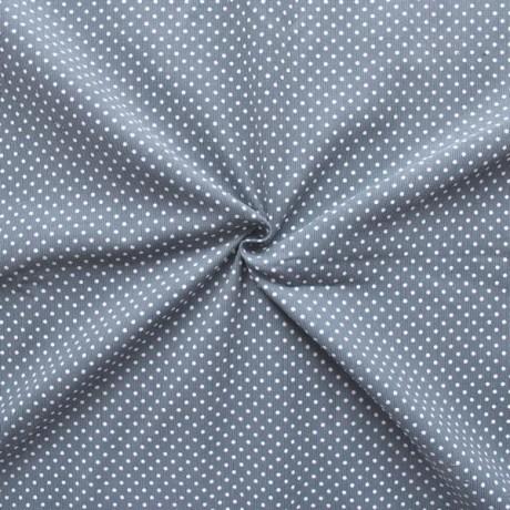 Feincord Punkte Klein Grau