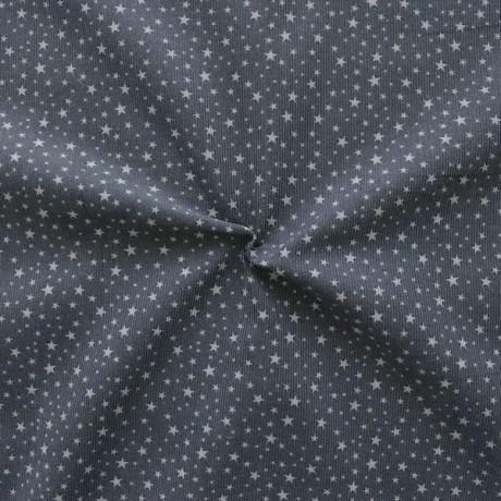 Feincord Baumwollstoff Sterne Mix Mini Dunkel-Grau