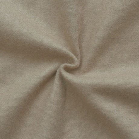 Flanell Wollstoff Farbe Dunkel-Beige