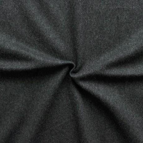 Flanell Wollstoff Dunkel-Grau