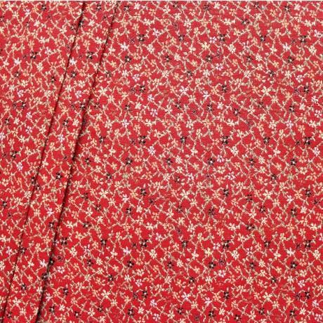 Gobelin Möbelstoff Dekostoff Blumenranken Rot