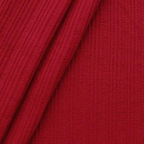 Strickstoff gerippt Farbe Rot