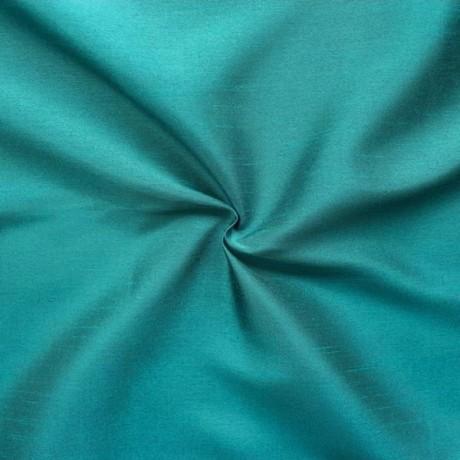 Kleider- Deko Taft Dupionseide Optik Ozean-Blau