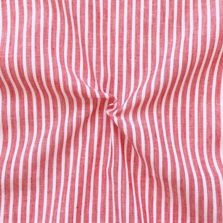 Leinen-Baumwolle Streifen Rot