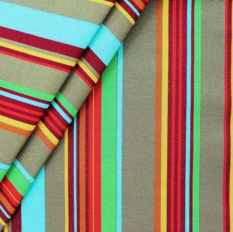 Liegestuhl / Outdoorstoff Streifen Multicolor