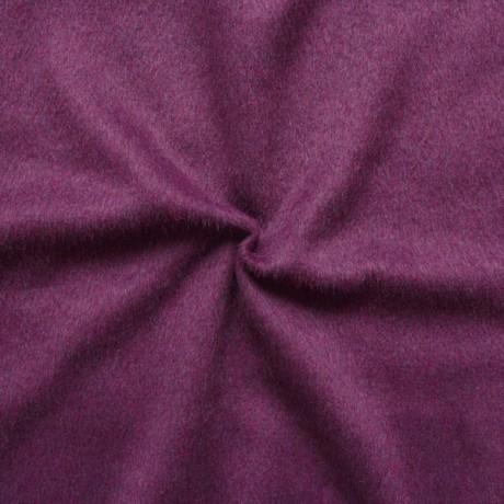 Mantel Flausch Wollstoff Lila-Violett meliert